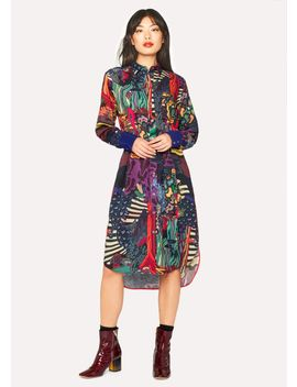 Women's 'dreamer' Print Wool Blend Shirt Dress by Paul Smith