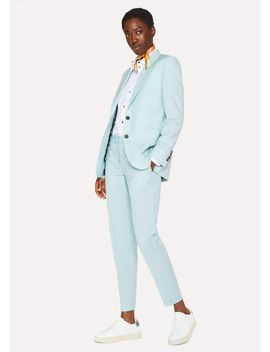 Women's Turquoise Two Button Wool Mohair Suit by Paul Smith