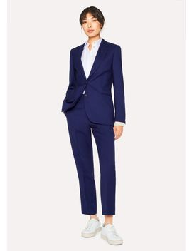 A Suit To Travel In   Women's Indigo Two Button Wool Suit by Paul Smith