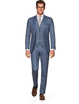 Havana Blue Suit by Suitsupply