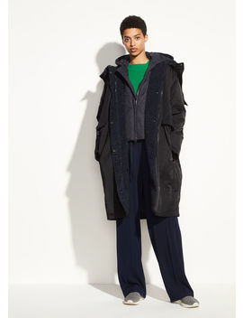 Mixed Media Puffer Coat by Vince