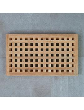 Lattice Teak Doormat by Terrain