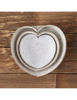 Heart Stoneware Dip Bowl by Terrain