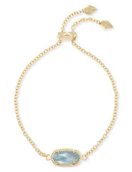 Elaina Adjustable Chain Bracelet In Light Blue Illusion by Kendra Scott