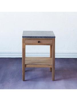 Marble & Teak Side Table by Terrain