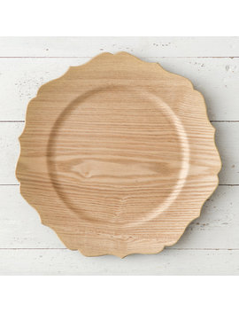 Decorative Woodgrain Charger by Terrain