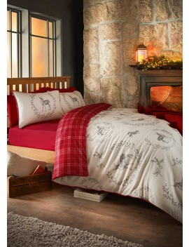 100%-brushed-cotton-stag-duvet-cover by matalan