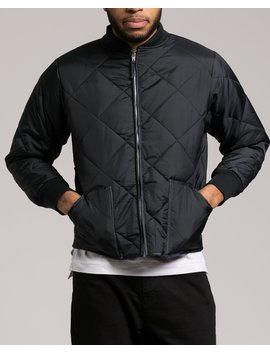 Diamond Quilted Flight Jacket by Jack Threads