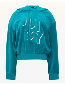 Embossed Juicy Velour Hooded Pullover by Juicy Couture