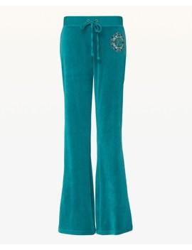 Juicy Gems Crest Velour Del Rey Pant by Juicy Couture