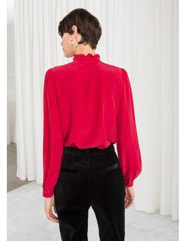 ruffle-collar-silk-shirt by &-other-stories