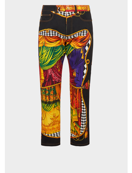 Sipario Print Jeans by Versace