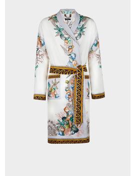 Étoiles De La Mer Silk Robe by Versace