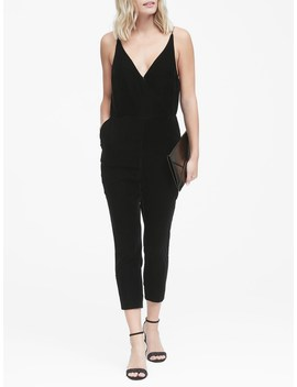 petite-velvet-cropped-jumpsuit by banana-repbulic