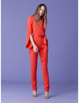 Mick Slit Sleeve Jumpsuit by Dvf