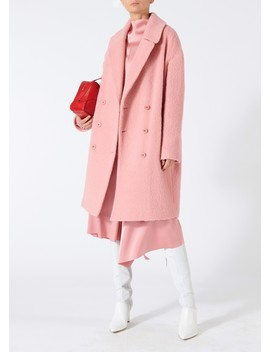 Luxe Mohair Double Breasted Coat by Tibi