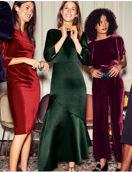 Rebecca Satin Maxi Dress by Boden