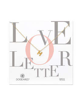 "Love Letter, ""H"" Necklace, Gd, 16 W/ 2 Ext by Dogeared"