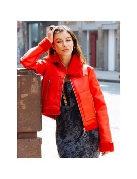 All Stars Luxe Bomber Jacket In Red by Wet Seal
