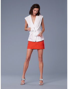 Sleeveless Cotton Waist Tie Blouse&Nbsp; by Dvf