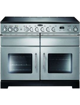 Rangemaster Excel 110 Dual Fuel Range Cooker   Stainless Steel With Chrome Trim by Wickes