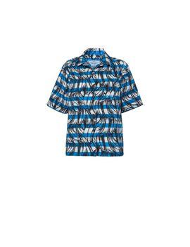 Short Sleeved Cotton Shirt by Prada