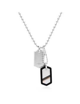 Dog Tag Steel Necklace by Fossil