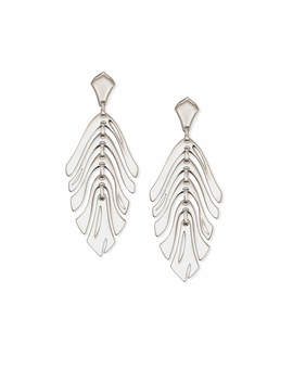 Luca Statement Earrings In Silver by Kendra Scott