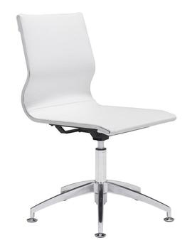 Glider Conference Chair   White by Zuo