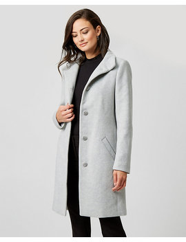 Wool Twill Funnel Collar Coat by Le Chateau