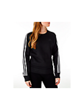 Women's Adidas 3 Stripes Sweatshirt by Adidas