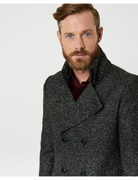Bouclé Notch Collar Topcoat by Le Chateau