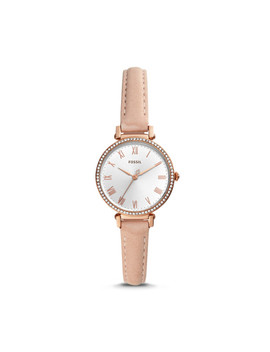 Kinsey Three Hand Blush Leather Watch by Fossil