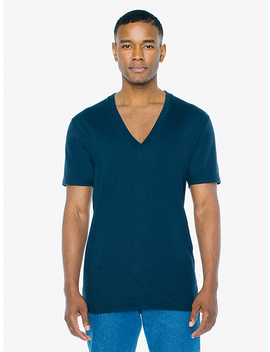 Powerwash Deep V T Shirt by American Apparel