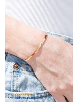 Gold Cuff Bracelet by Brandy Melville