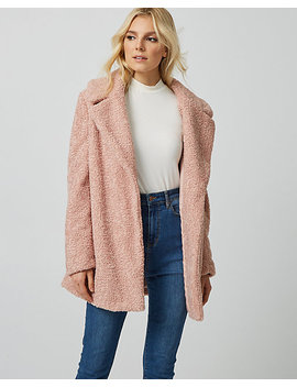 Sherpa Notch Collar Teddy Jacket by Le Chateau