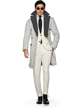 Light Grey Coat Jort by Suitsupply