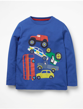 Printed Vehicle T Shirt by Boden