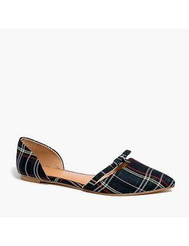 Tartan Plaid D'orsay Flat With Bow by J.Crew