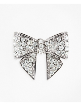Rhinestone Encrusted Bow Brooch by Brooks Brothers