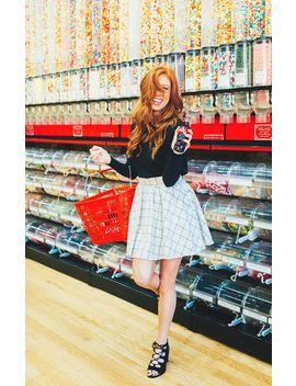 Flannel Skater Skirt by Lauren James