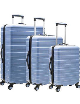 Cypress Colorful 3 Piece Hardside Spinner Luggage Set by U.S. Traveler