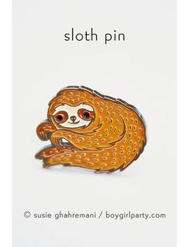 Pin: Sloth (Boygirlparty) by Strand Book Store