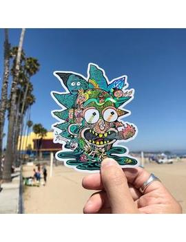 Sticker: Rick Head Holographic by Strand Book Store