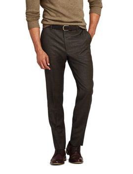 Men's Pattern Slim Fit Comfort First Year'rounder Trousers by Lands' End