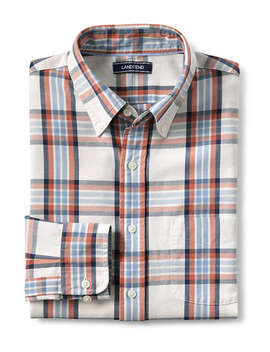 Men's Slim Fit Pattern Sail Rigger Oxford Shirt by Lands' End