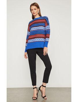 Striped Pullover Sweater by Bcbgmaxazria