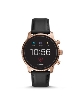 Gen 4 Smartwatch   Explorist Hr Black Leather by Fossil