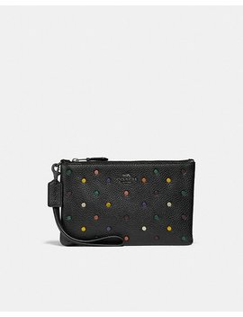 Small Wristlet With Rainbow Rivets by Coach