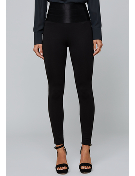 Satiny High Waist Leggings by Bebe